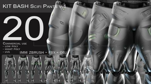 IMM 20 Scifi Legs KitBash with Uvs - Plus LP+HP)