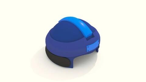 Cartoon Robot Helmet Model CRH4