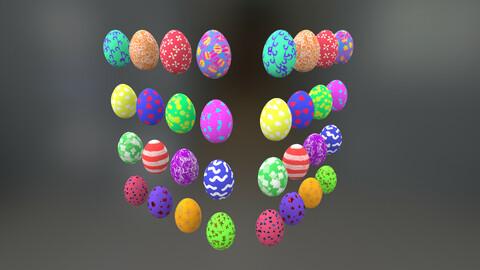 4 Sets Easter Eggs