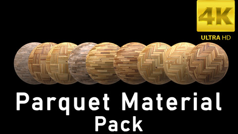 High Quality Parquet Material Pack 4K