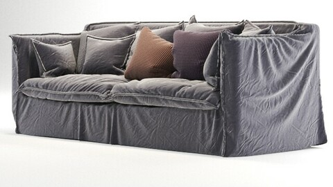 old gray sofa