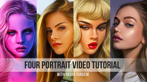 Four - Portrait video tutorial bundle