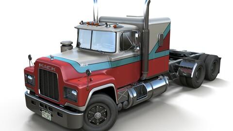 American generic semitruck PBR