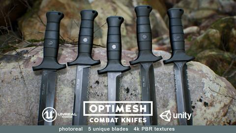 Combat Knife - PBR 3D model Low-poly