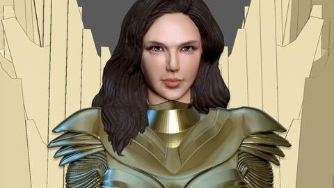 WONDERWOMAN 1984 GOLDEN ARMOR STATUE DC MOVIE GAL GADOT 3D PRINT MODEL