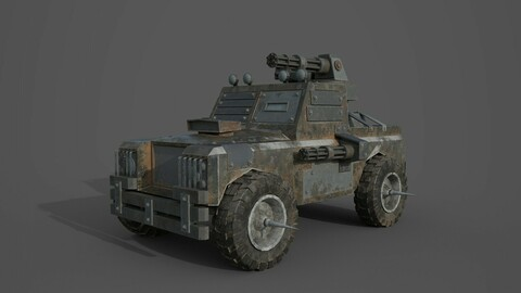 Post Apocalyptic Monster Rover Truck