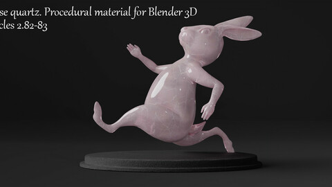Rose quartz stone shader. Procedural material for Blender 3D. Cycles 2.82, 2.83.