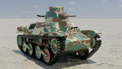 Type-95 Ha-Go Japanese World War 2 Light Tank