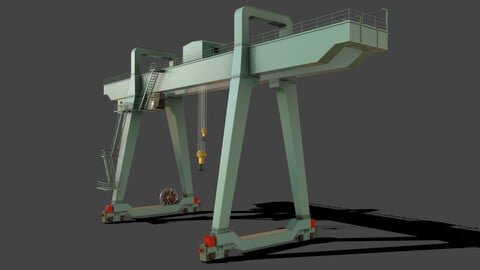 PBR Double Girder Gantry Crane V1 - Green Light