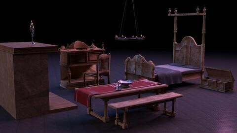 Medieval Bedroom Asset Pack