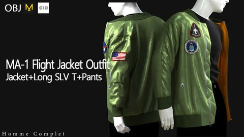 Men's MA-1 Flight Jacket Outfit