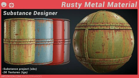 Rusty Metal Material - Substance Designer