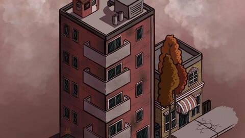Isometric urban illustration