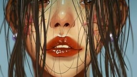 Portrait of a wet woman