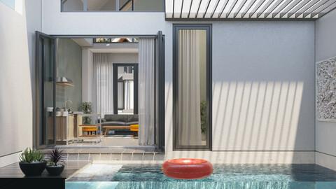 CORONA 3DMAX - Tropical Swiming Pool 3D model