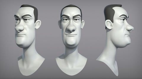 Cartoon male character Dave base mesh