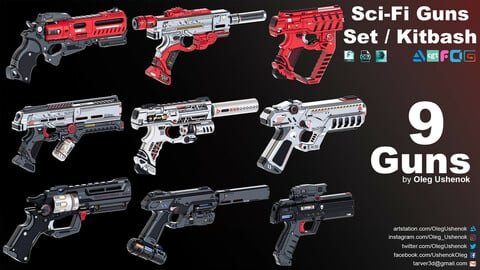 Sci-Fi Guns Set / Kitbash