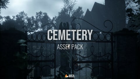 Cemetery Pack Game-Ready