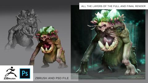 FULL ZBRUSH AND PSD FILE - Mega Peronospora