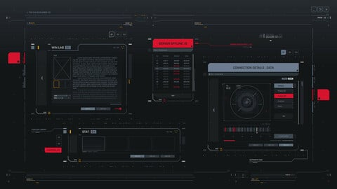 FUI / UI - Screen graphics set