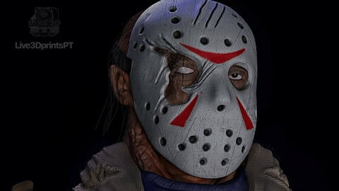 Jason Voorhees: Bust for 3D printing
