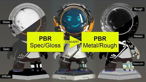 PBR Spec/Gloss to Metal/Rough Converter