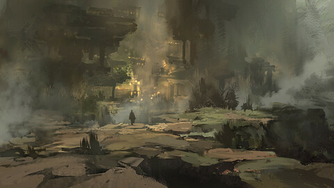 Fantasy Environment PSD + Video Process