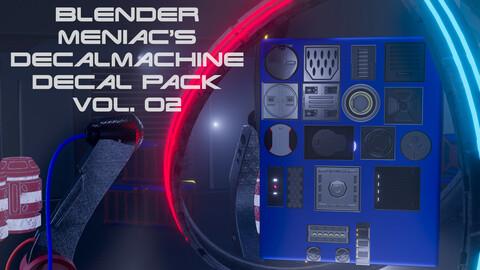 Blender Maniac Decalmachine Decal Pack Vol. 02