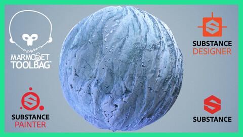 Glacier Snow Ice Seamless PBR Texture