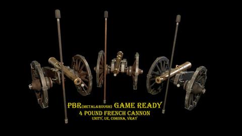 4 Pound Napoleon's era French Cannon Game ready