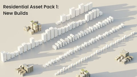 Residential Asset Pack 1: New Builds