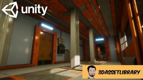 Sci-Fi Interior Vol 1 For Unity Engine