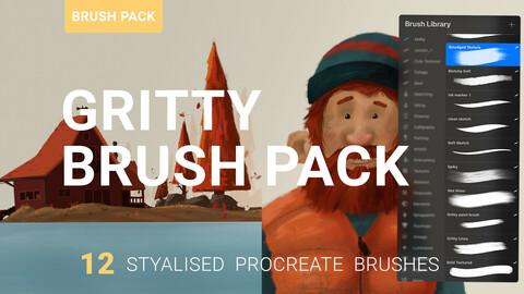 Gritty Procreate Brush Pack