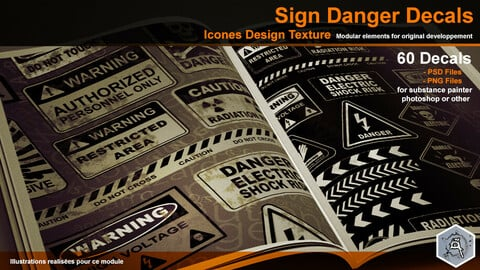Danger Sign Decals