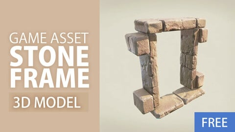 FREE - 3d Model | 3d Stone Door / Window Frame | Low Poly PBR Game Ready | Unity & Unreal | 3d Game Art