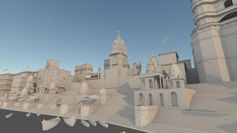 3D Varanasi Ghat model