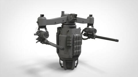 sci-fi Turret 5