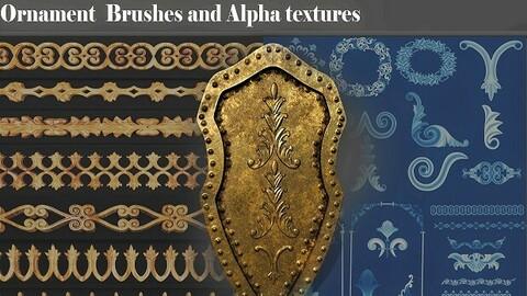 30 3d Ornament plus Brushes plus Alpha