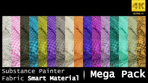 Substance Painter Fabric Smart Material /4K High Quality / Mega Pack
