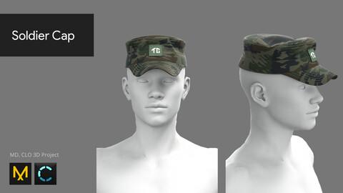 Soldier Cap - Marvelous Designer, CLO 3D