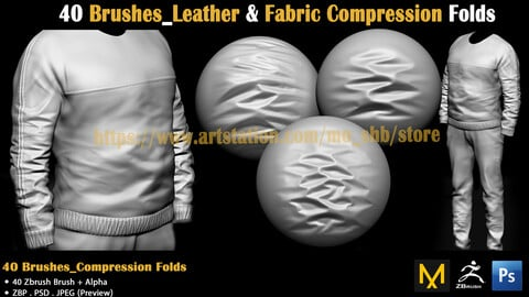 40 Brushes_Leather & Fabric Compression Folds