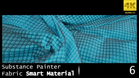 Substance Painter Fabric Smart Material /4K High Quality / 6