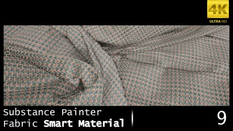 Substance Painter Fabric Smart Material /4K High Quality / 9