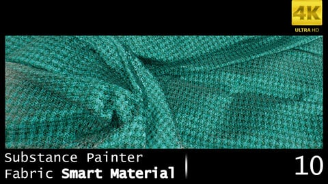 Substance Painter Fabric Smart Material /4K High Quality / 10