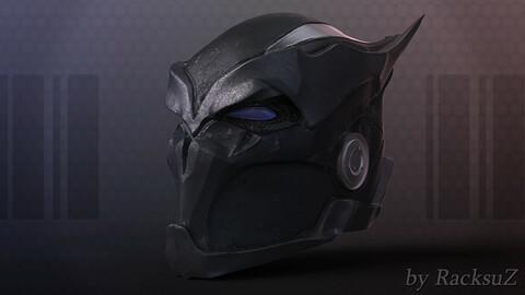 Aggressive Superhero Helmet Sculpt Project