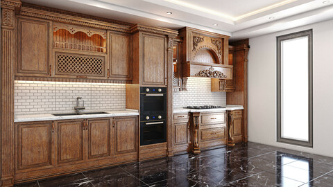Classic wooden luxury Kitchen Deluxe