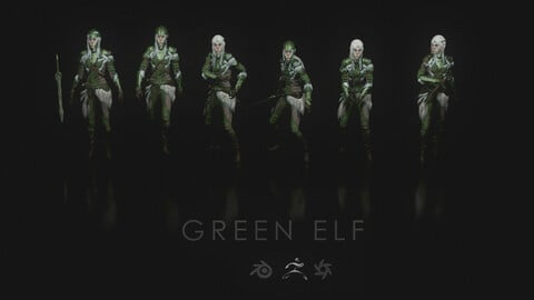 Green Elf 3D models for Concept Art