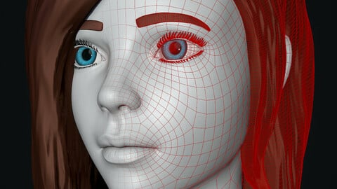 Stylized Female Mesh and Textures
