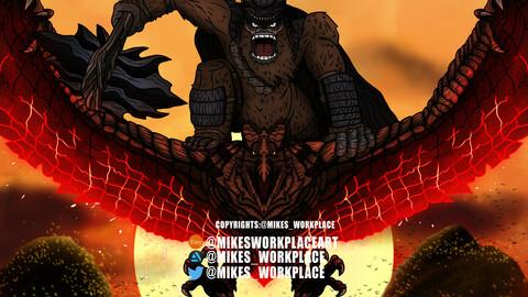 """""""Kong"""" A Genndy Tartakovsky Fan art"""
