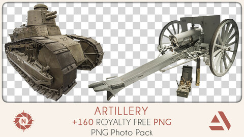 PNG Photo Pack: Artillery